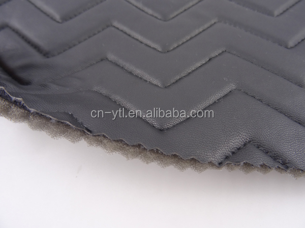 Padded Leather Quilted Fabric for Bags,Shoes