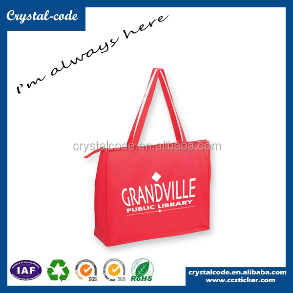 Free Sample Recyclable PP tnt Non Woven Bag With Zipper