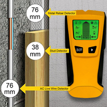 Floureon 3 In 1 Metal Detectors Find Wood Studs AC Voltage Live Wire Detect Wall Scanner Electric Box Finder Detector