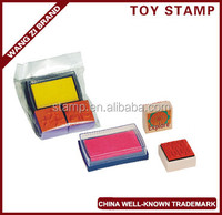 Chillden's toy stamp set,, made of wood , gifts for Chiildren's day