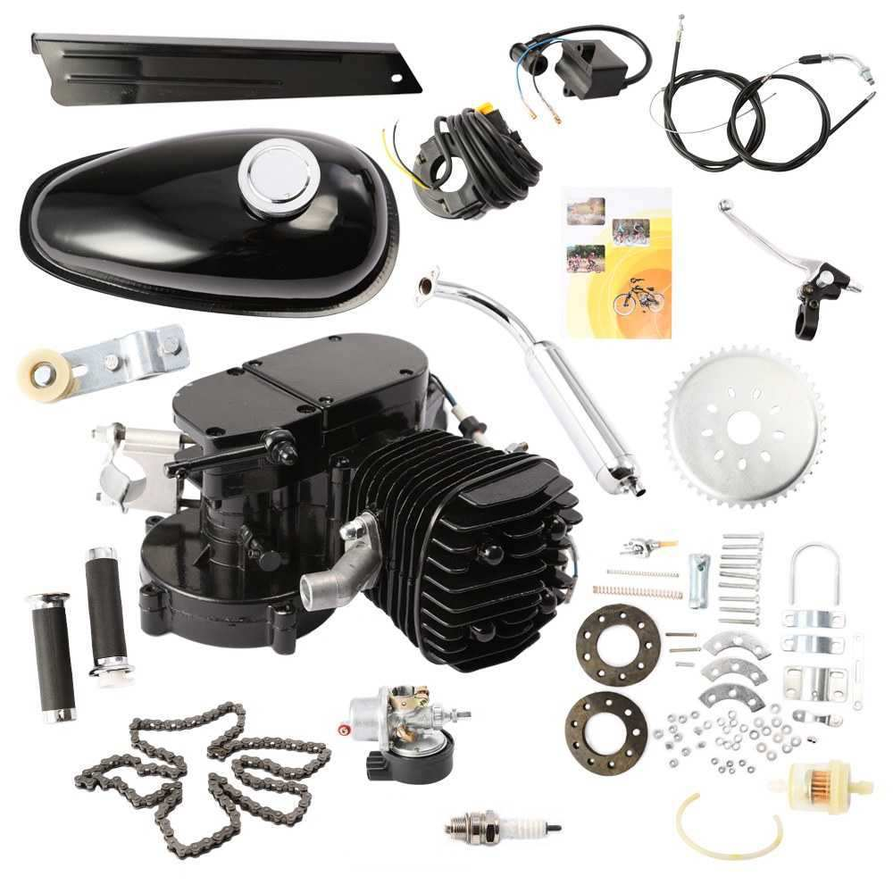 BLACK 80CC 2-STROKE PETROL GAS MOTOR BICYCLE ENGINE MOTOR KIT FOR MOTORIZED BIKE
