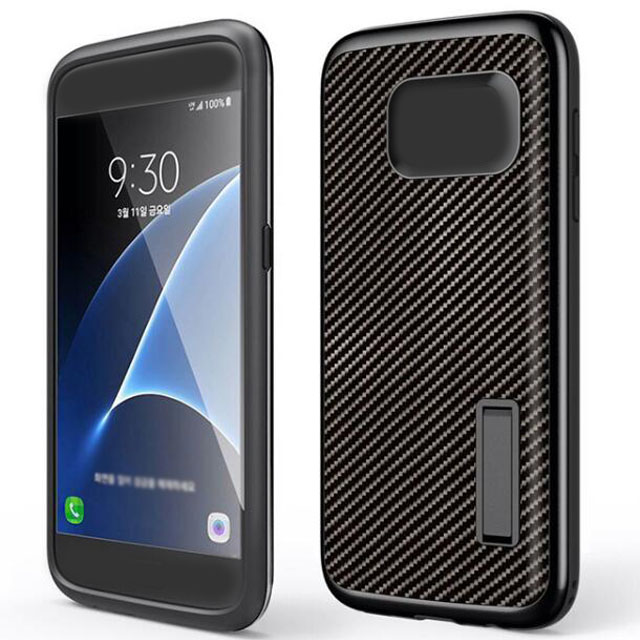Hard TPU Plastic Level Carbon Fiber Series Bracket J7 A7100 Phone Case Back Cover