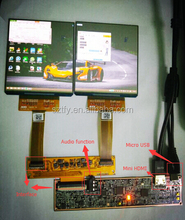 3.81 inch oled micro display 1080*1200 2 screens hdmi to mipi
