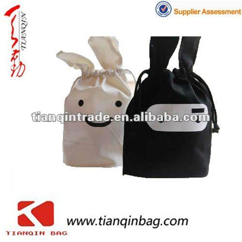 210D Polyester storage bag drawstring bag italian matching shoes and bags