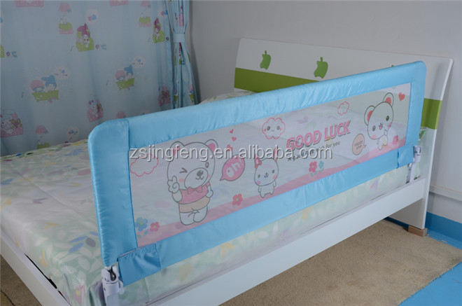 Lovely Design One Hand Foldable Baby Guard Rail Baby Bed Safety Guard Rail For Baby Protection