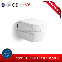 Watermark Wall Mounted Toilet with Concealed Cistern & Soft Closing Cover, Australian Standard WELS Toilet Bowl