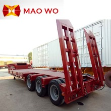 3 axles 60 tons low bed semi truck trailers for hot sale in China