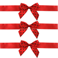 Custom processing satin ribbon bow for gift wrapping