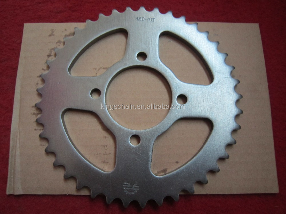 motorcycle spare parts CD70 41/14T 420 104L motorcycle chain and sprocket