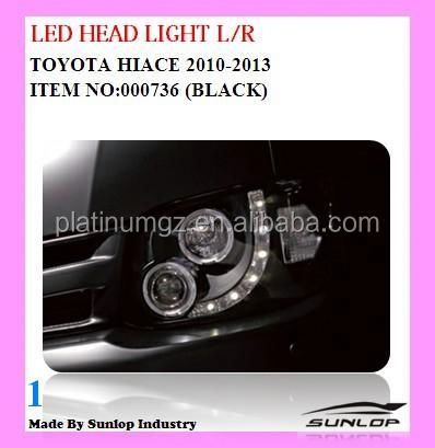 toyota hiace head lamps LED head light new model