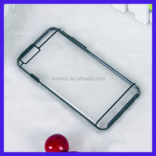 Hot sell transparent PC+TPU clean hard case for iphone 7 plus