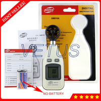 GM816A Handheld Digital Anemometer Price with LCD Backlight Display Wind Speed 0~30m/s Temperature meter 10~45C