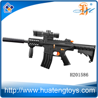 M4 cool electric water gun with silencer plastic water bullet gun toy for wholesale