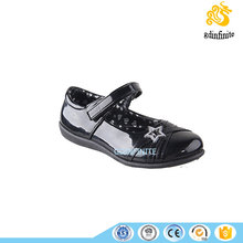 Baby PU leather patent black color footwear kids Mary Jane shoes pretty casual shoes