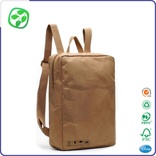 school usage bag folded washable kraft paper backpack