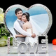 Love shape acrylic crystal wedding gifts with engraved photo
