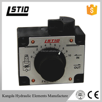 FKC 02 03 hydraulic oil left right pressure compensated mechanical flow control valve
