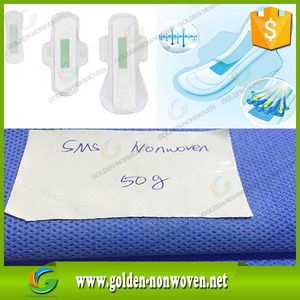 High quality low price nonwoven stretch fabric/reusable nonwoven cloth for sanitary pads/nonwoven material from Golden nonwoven