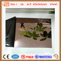 Lisco Mirror Finished Stainless Steel Coating Sheet for Exterior Wall Panles Decoration