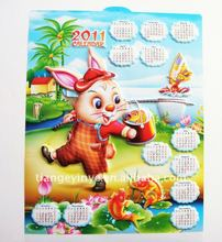 Embossed High Quality PVC Hanging Wall Calendar
