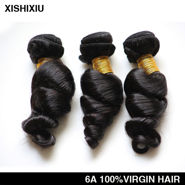 XISHIXIU Natural Color Unprocessed 6 grade Wholesale 100%c virgin brazilian hair Aliexpress hair
