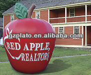 pvc inflatable giant apple for promotion