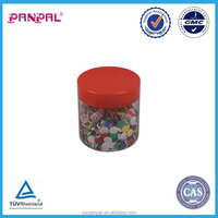 china supplier round blow case 200pcs color plastic covered head thumb tack