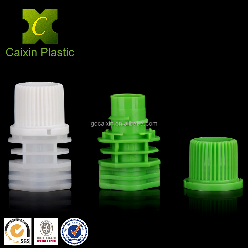 10mm plastic reclosable nozzle with lid used for automatic pouch filling machine