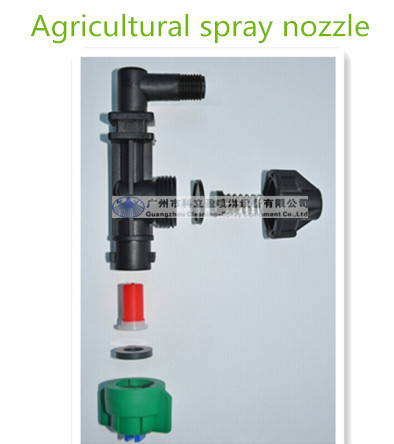 Threaded connection agricultural spray nozzles
