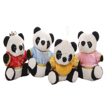 2016 Hot Sale High Quality wholesale soft Factory customed fat baby panda plush toy for sale, panda family with clothes