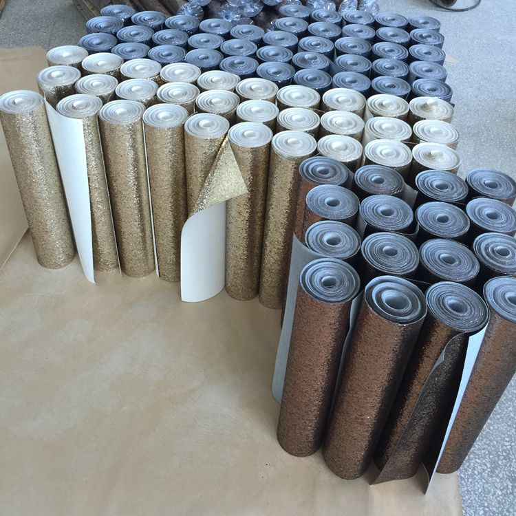 new style 53cm*10m/roll chunky glitter wallpaper roll wall covering for decor wall