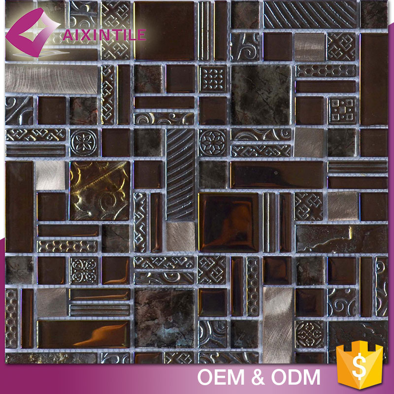 Indoor Design China Wall And Floor Glass Mosaic Tiles