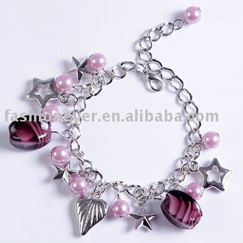 Candy Color Handmade Charm Bracelets & Bangles European Crude Metal Beads Flower Cuff Crystal Bracelet For women