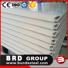 Exterior Building Material prefabricated panel pu sandwich wall