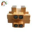 Rubber wood toy intelligent brain teaser puzzle