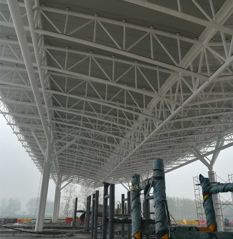 Steel Roof Truss For Gas Station Shed Buy Steel Structure Space Frame For Gas Station Gate Gas Station With Metal Frame Roofing Structural Steel