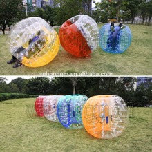 Colorful red and clear pvc customize 1.5m bumper ball inflatable ball for sale