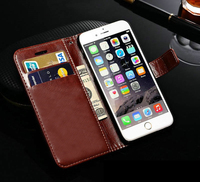 Best selling strong packing pu leather cheap mobile phone cases for iphone6 iPhone6 plus wholesale