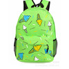 Green high class student school bag backpack for teen