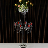 New design Crystal flower stand for Romantic wedding centerpiece