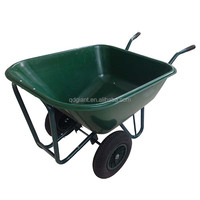 160kg/130l large capacity concrete wheelbarrow