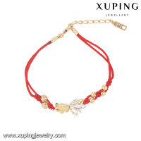 74501-xuping fashion jewelry manufacturer china ruby stone fish shape string bracelets