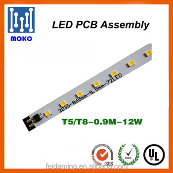 220v 8w 10w 18w 20w integrated driverless T5/T8 led tube pcb for tube lighting
