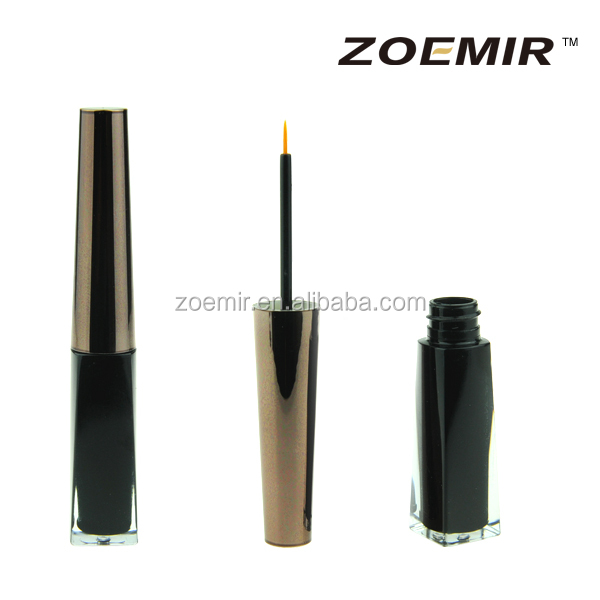 Empty eyeliner pencil makeup cosmetic acrylic eyeliner container/tubes with brush
