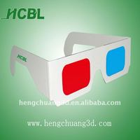 2013 red blue customized red/cyan lens paper 3d glasses OEM/ODM