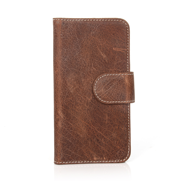 "4.7"" Genuine leather custom flip case for mobile phone case"