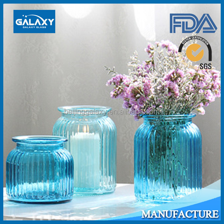 different types glass vase with flowers decorative wholesale