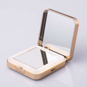 hollywood style square compact makeup mirror with led light