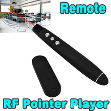 USB Wireless RF Remote Controller PPT Presenter Red Pen Laser Pointer