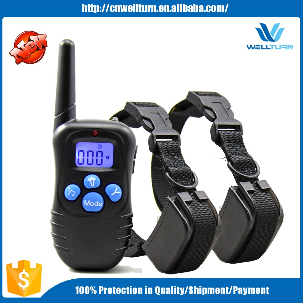 2016 High Quality 300m Remote Dog Electric Training Collar 100 Static Shock Vibrate Dog E Collar Waterproof Dog Trainer